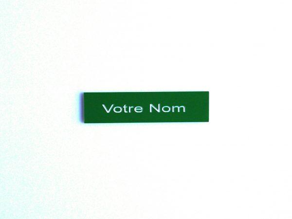 plaque de boite aux lettres verte