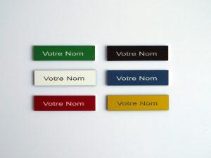 Plaque pour boites aux lettres