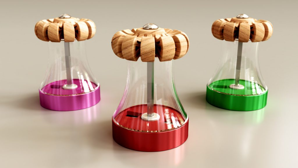 Design , modelisation 3D sweeden pepper mill