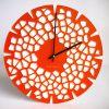 horloge murale design orange corail