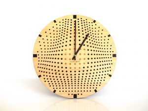 Horloge design bois Gravity