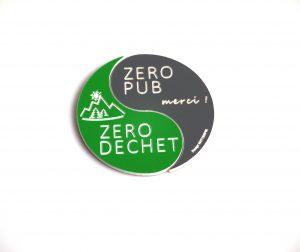 Panneau stop pub Zero