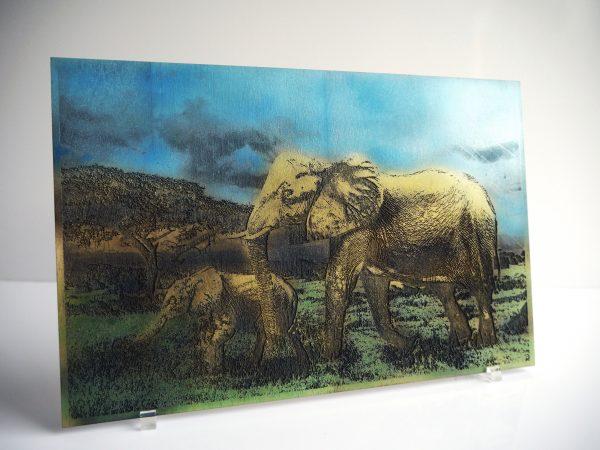 gravure sur bois les éléphants