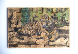 Gravure sur bois – Le tigre