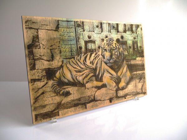 Gravure bois - le tigre
