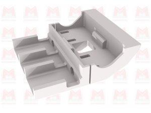 Fichier 3D / Carter de protection chaine commande compatible imprimante 3D X400 Pro V3 (*)