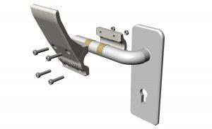 Poignée de porte sans contact DINO (x2)