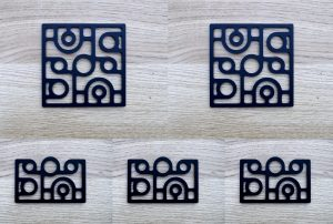 Kit plaques décoratives ART-DECO modèle IRIS (Kit complet x5 pièces)