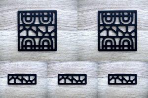 Kit plaques décoratives ART-DECO modèle WINDOW (Kit complet x5 pièces)