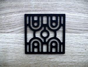 Plaque décorative ART-DECO modèle GATE-GM