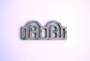 Plaque décorative ART-DECO modèle GATE-PM