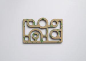 Plaque décorative ART-DECO modèle IRIS-PM