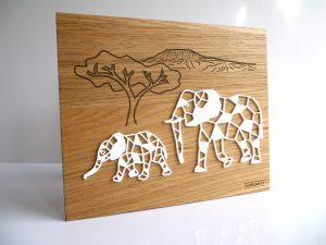 Tableau décoratif Elephants